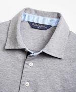 Slim Fit Heathered Polo Shirt 썸네일 이미지 2