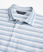 Slim Fit Cotton Jersey Stripe Polo Shirt 썸네일 이미지 2