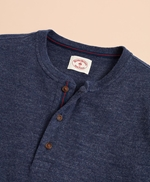 Cotton Jersey Long-Sleeve Henley 썸네일 이미지 2