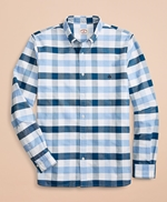 Wide-Gingham Cotton Oxford Sport Shirt 썸네일 이미지 2