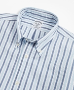 Regent Fit Bold Stripe Seersucker Sport Shirt 썸네일 이미지 2