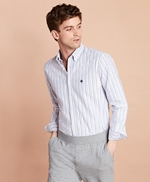 Multi-Stripe Cotton Oxford Sport Shirt 썸네일 이미지 2