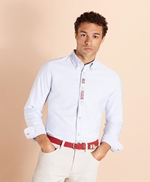 Red Fleece Embroidered Cotton Oxford Shirt 썸네일 이미지 2