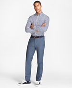 Slim-Fit Stretch-Cotton End-On-End Pants 썸네일 이미지 2