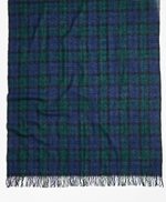 Black Watch Plaid Wool Scarf 썸네일 이미지 2