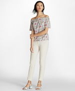 Botanical-Print Cotton Poplin Off-the-Shoulder Top 썸네일 이미지 2