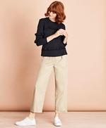 Pleat-Front Cropped Wide-Leg Pants 썸네일 이미지 2