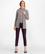 Cable-Knit Cashmere Duster Cardigan 썸네일 이미지 2
