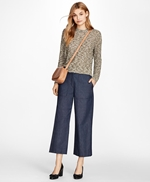 Cropped Shimmer Boucle Sweater 썸네일 이미지 2