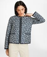 Water-Repellent Floral-Print Reversible Quilted Jacket 썸네일 이미지 2
