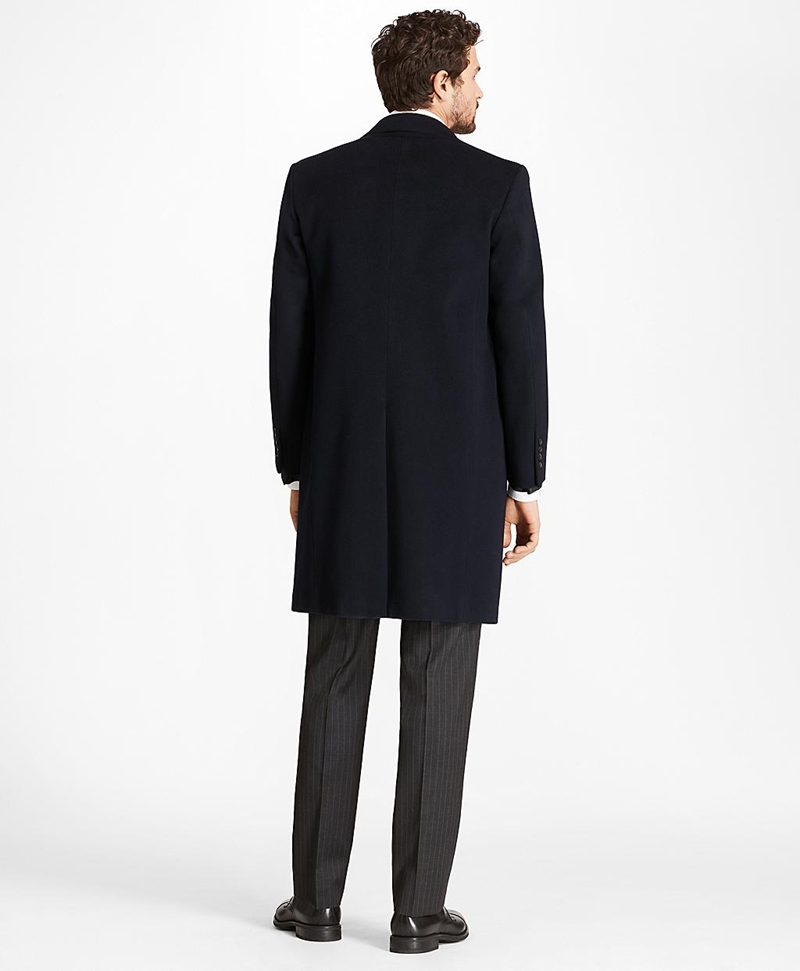 Golden Fleece® BrooksStorm® Westbury Cashmere Overcoat 썸네일 이미지 2