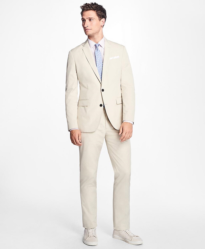 Slim-Fit Cotton Suit Trousers 썸네일 이미지 2
