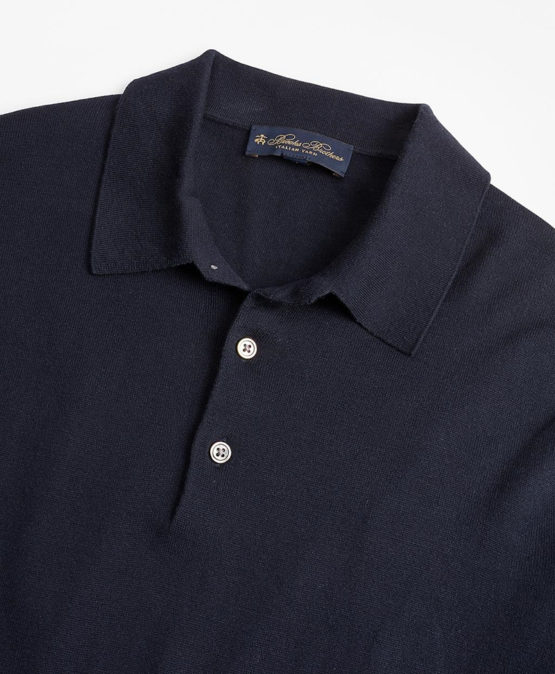 Silk And Cotton Polo Sweater 썸네일 이미지 2