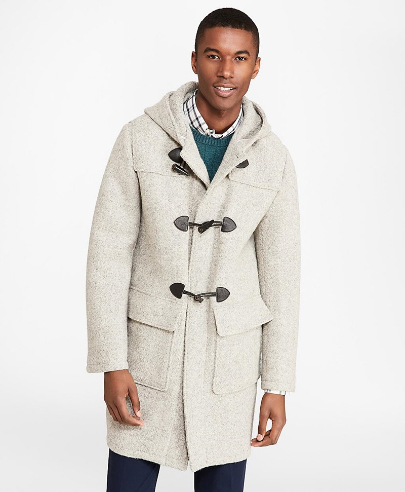 Textured Wool Duffle Coat 썸네일 이미지 2
