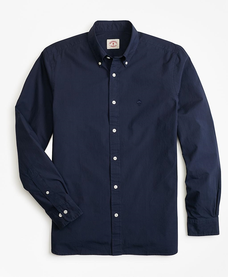 Garment-Dyed Cotton Broadcloth Sport Shirt 썸네일 이미지 2
