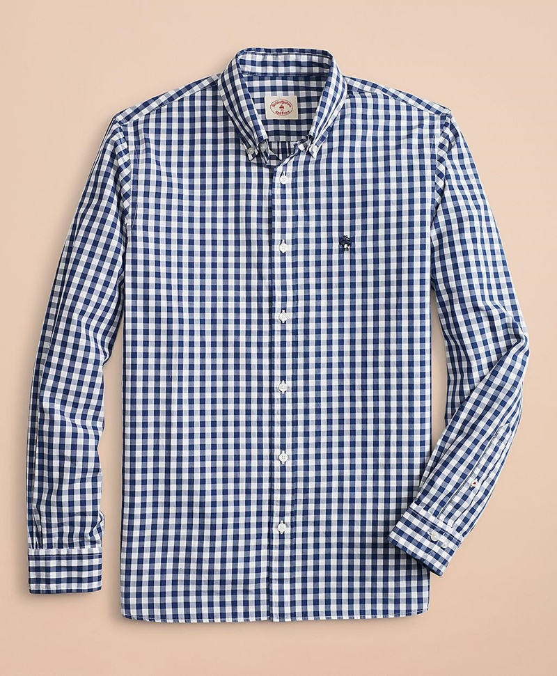 Gingham Broadcloth Sport Shirt 썸네일 이미지 2