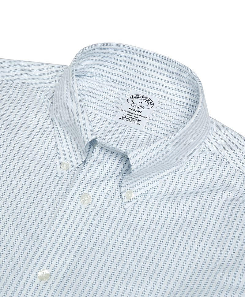 Non-Iron Regent Fit Striped Oxford Shirts 썸네일 이미지 2