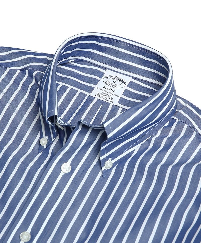 Non-Iron Regent Fit Broadcloth Stripe Sport Shirts 썸네일 이미지 2