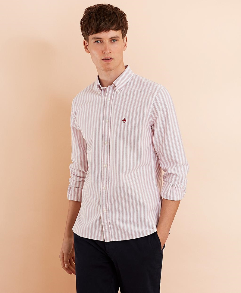 Striped Cotton Oxford Sport Shirt 썸네일 이미지 2