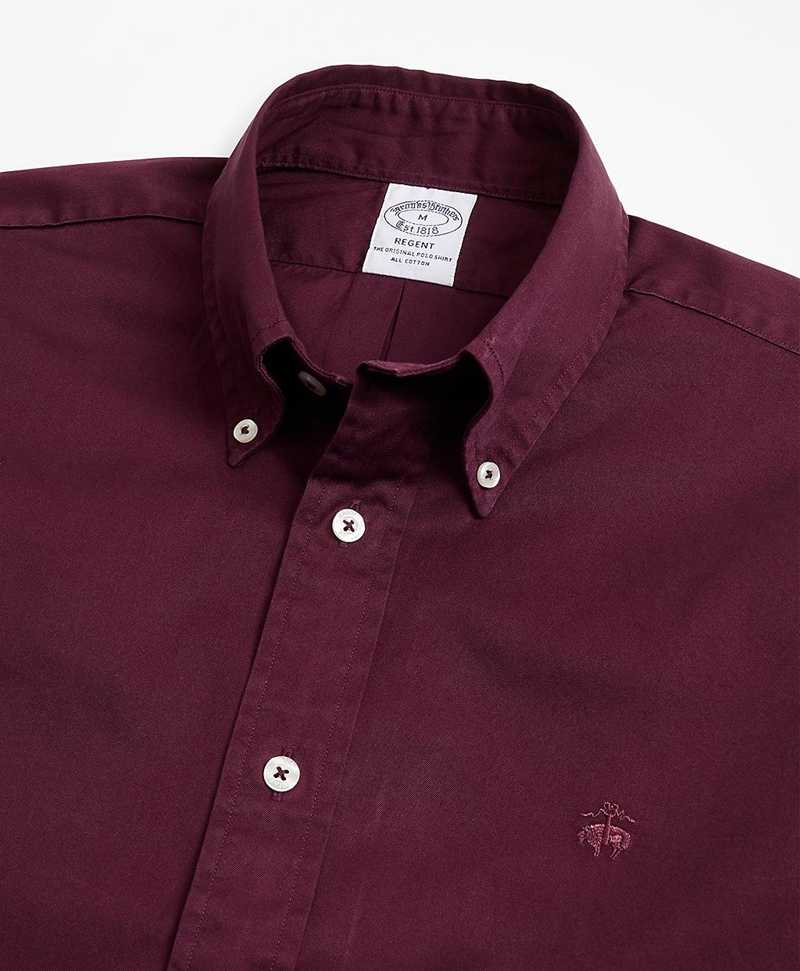 Regent Fit Garment-Dyed Twill Sport Shirt 썸네일 이미지 2