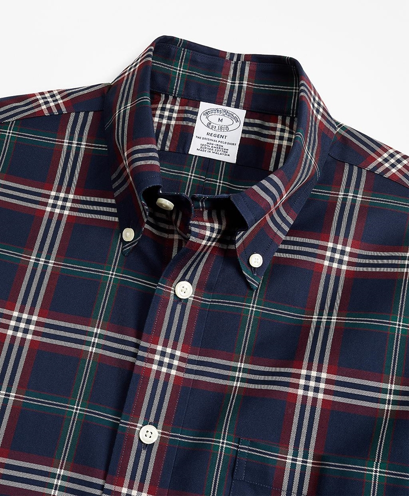 Non-Iron Regent Fit Signature Tartan Sport Shirt 썸네일 이미지 2
