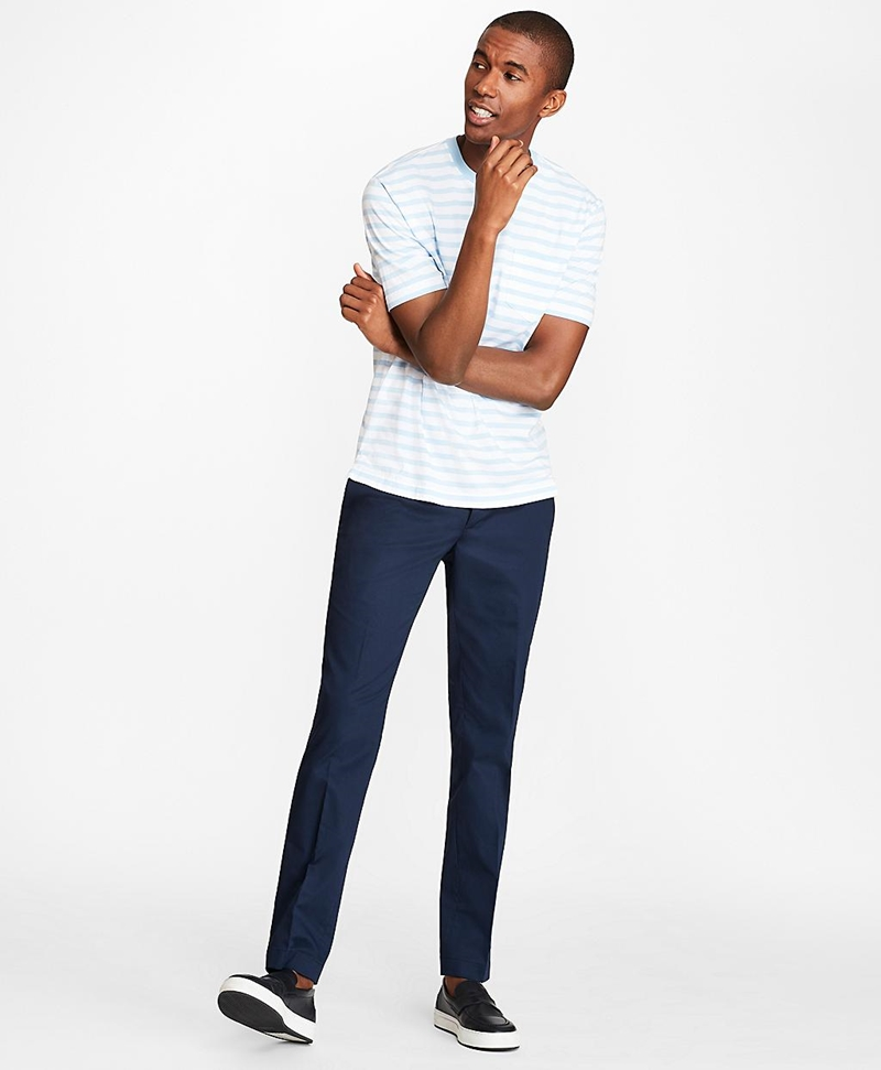 Soho Fit Textured Stretch Chinos 썸네일 이미지 2