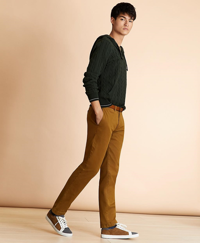 Slim-Fit Garment-Dyed Stretch Chinos 썸네일 이미지 2