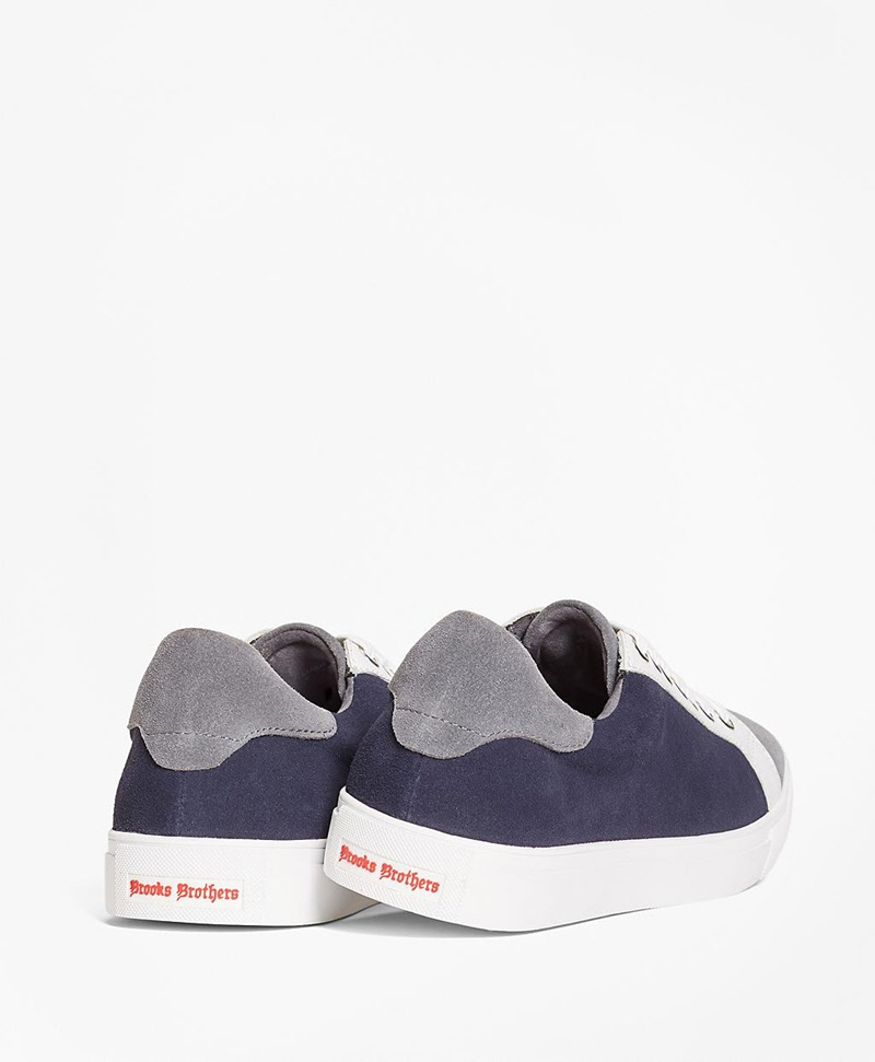 Color-Block Suede Sneakers 썸네일 이미지 2