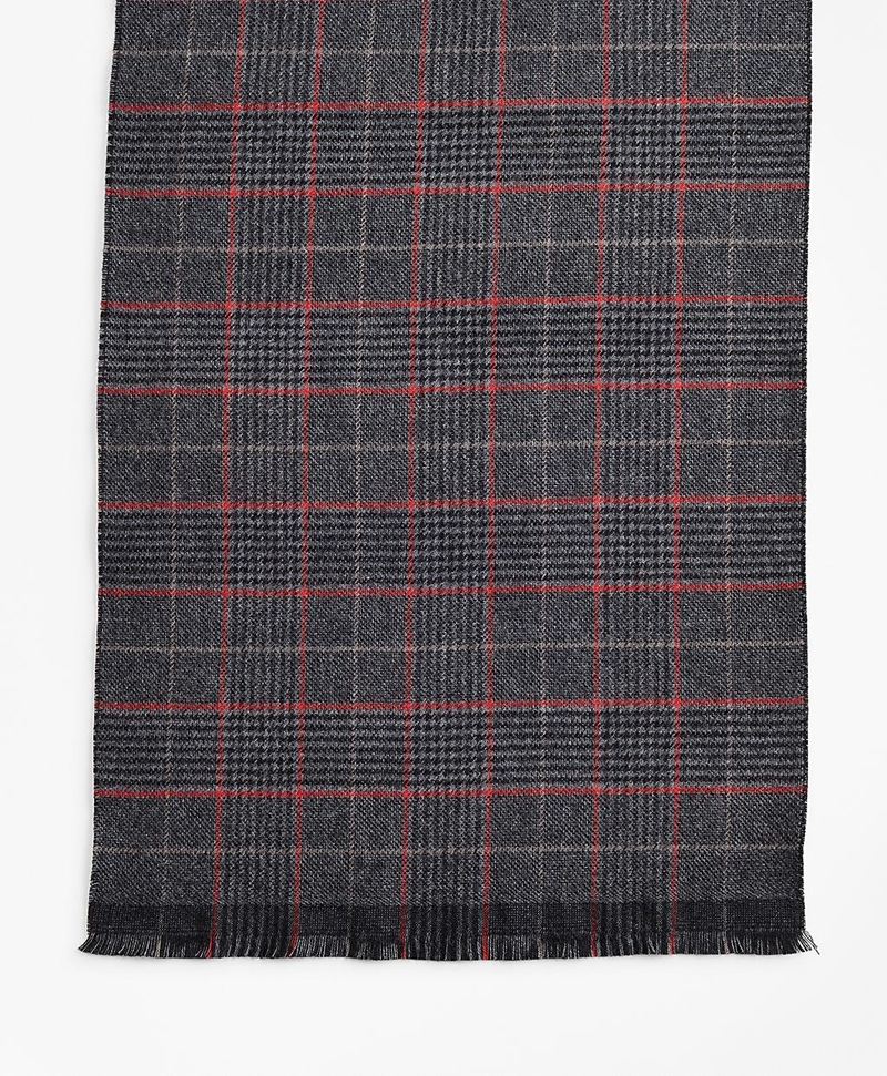 Double-Faced Glen Plaid Scarf 썸네일 이미지 2