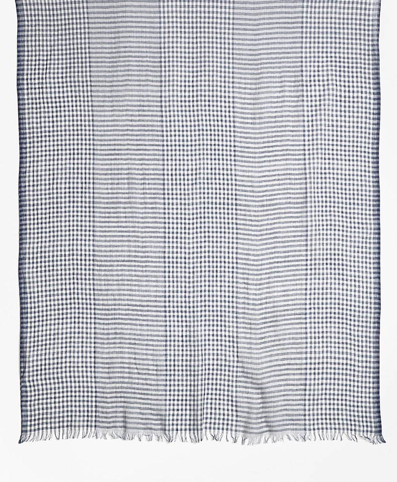 Gingham Cotton Gauze Scarf 썸네일 이미지 2