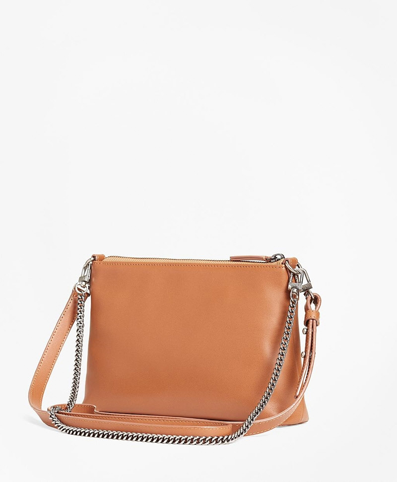 Leather Double-Strap Convertible Cross-Body Bag 썸네일 이미지 2