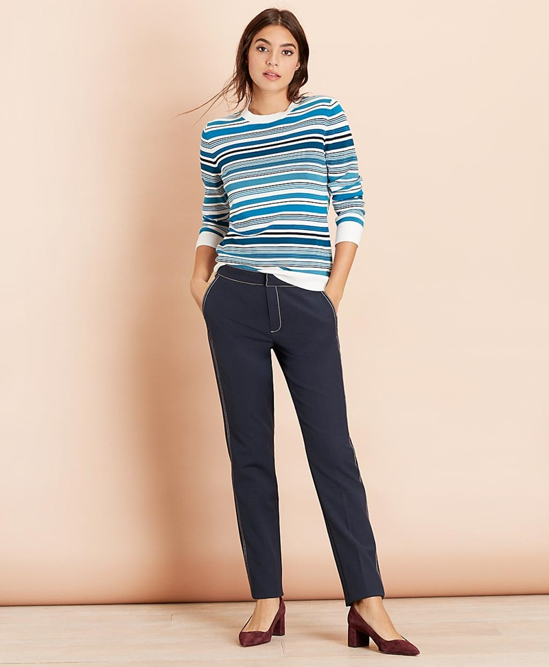 Striped Cotton Sweater 썸네일 이미지 2