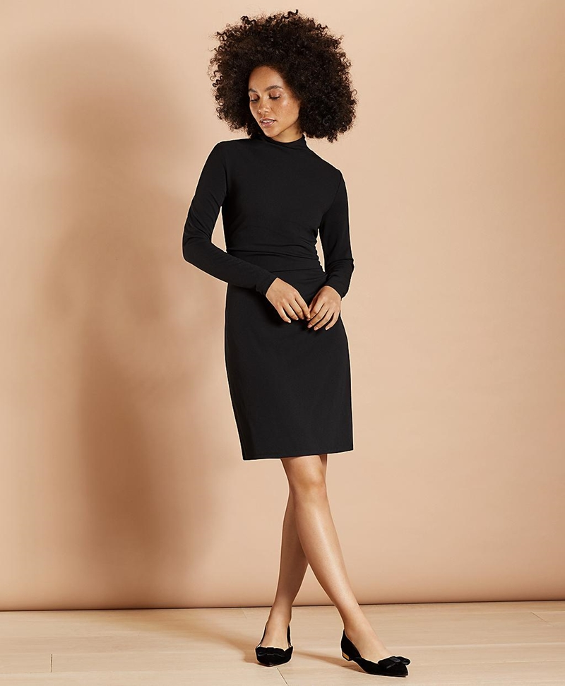 Crepe Jersey Ruched Sheath Dress 썸네일 이미지 2
