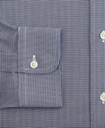 Milano Slim-Fit Dress Shirt, Non-Iron Micro-Check 썸네일 이미지 3