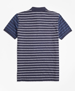 Stripe Slub Cotton Fun Polo Shirt 썸네일 이미지 3