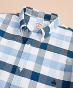 Wide-Gingham Cotton Oxford Sport Shirt 썸네일 이미지 3