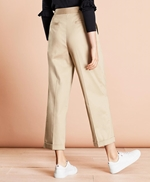 Pleat-Front Cropped Wide-Leg Pants 썸네일 이미지 3