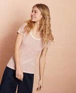 Striped Linen-Blend Scoop-Neck T-Shirt 썸네일 이미지 3