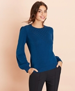 Wool-Cotton Pointelle-Detail Sweater 썸네일 이미지 3