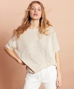 Shimmer Boucle-Knit Sweater 썸네일 이미지 3