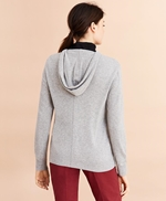 Wool-Cashmere-Blend Logo Hoodie Sweater 썸네일 이미지 3