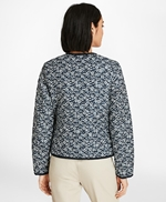 Water-Repellent Floral-Print Reversible Quilted Jacket 썸네일 이미지 3