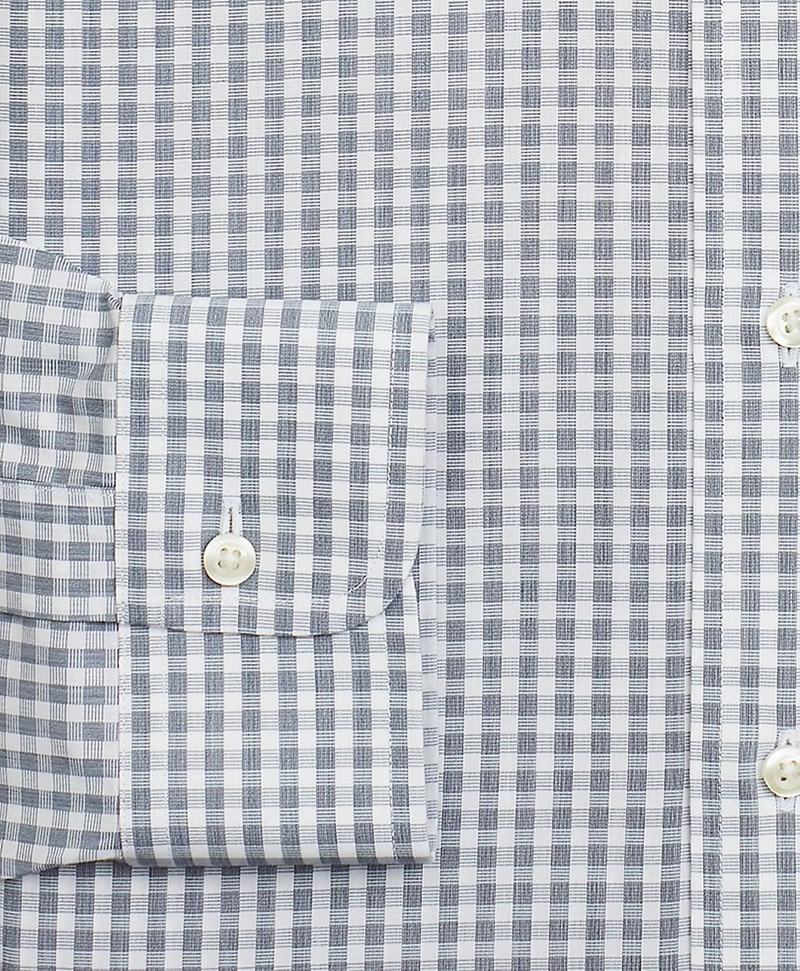 Milano Slim-Fit Dress Shirt, Non-Iron Check 썸네일 이미지 3