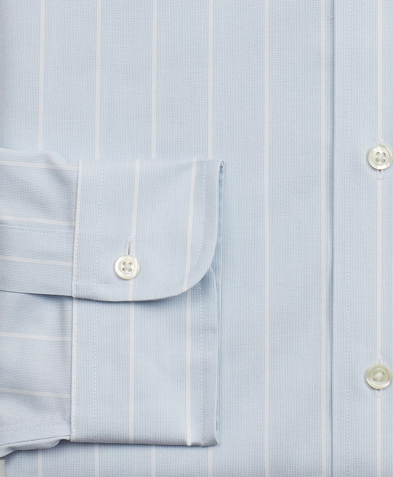 Stretch Milano Slim-Fit Dress Shirt, Non-Iron Pinstripe 썸네일 이미지 3