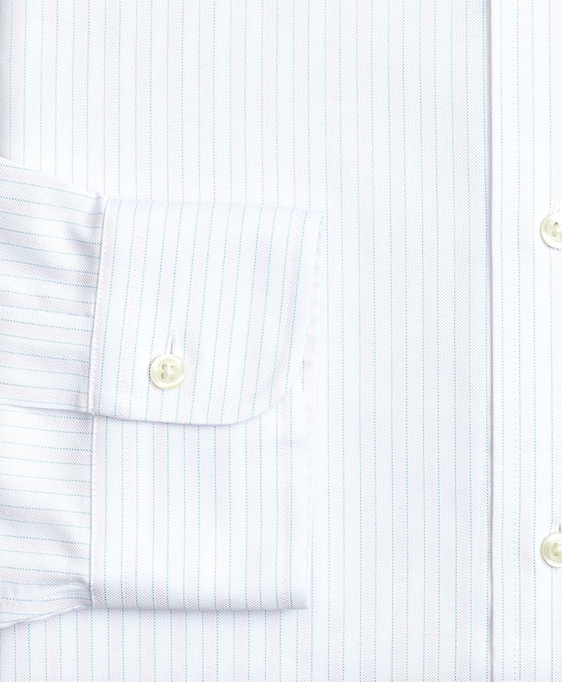 BrooksCool® Milano Slim-Fit Dress Shirt, Non-Iron Stripe 썸네일 이미지 3