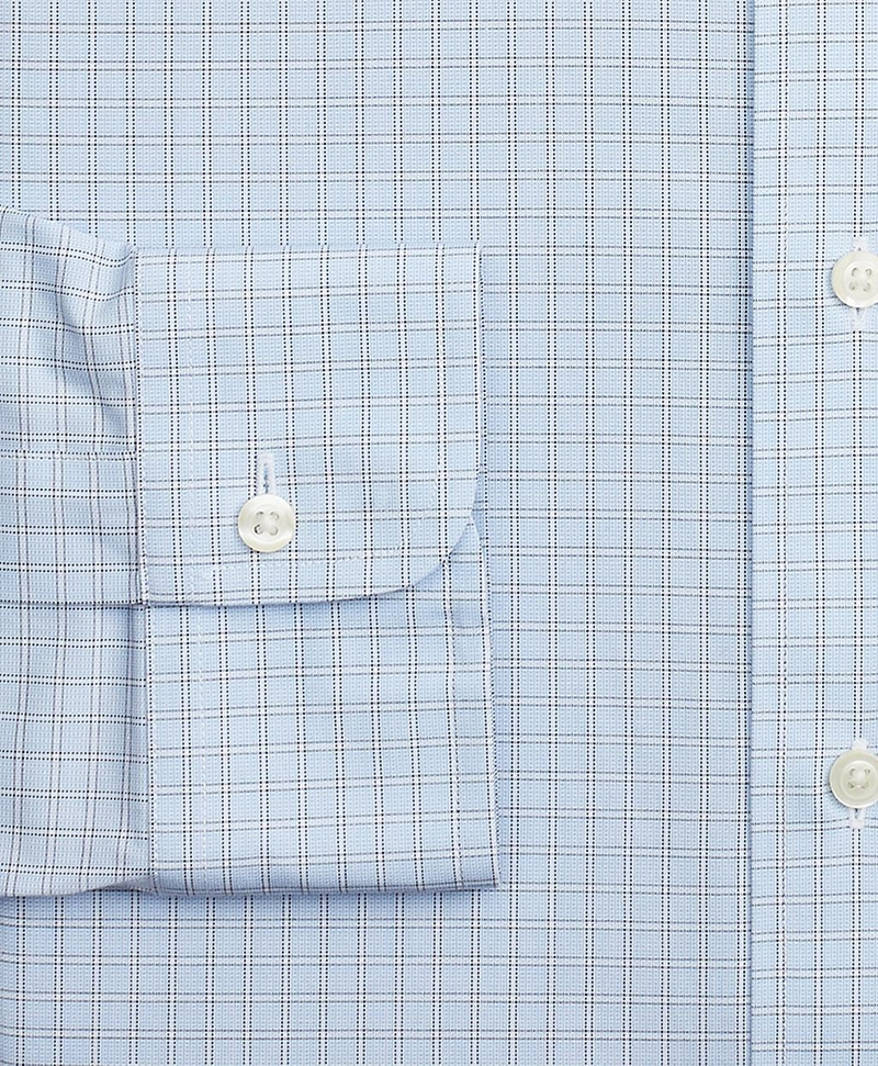Stretch Milano Slim-Fit Dress Shirt, Non-Iron Check 썸네일 이미지 3