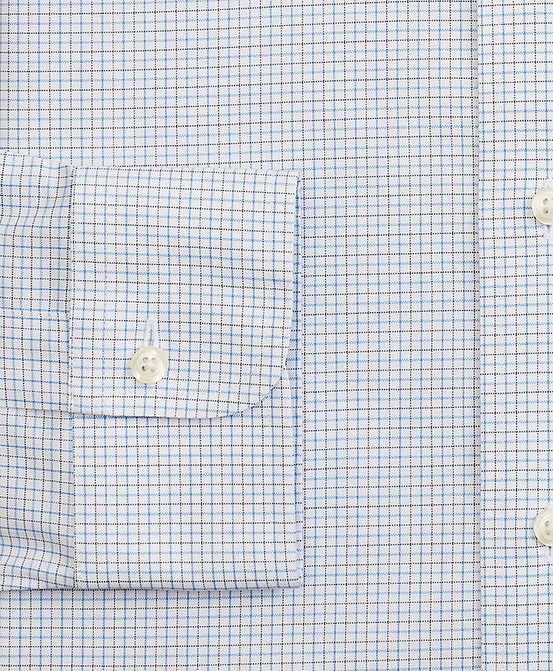 Stretch Milano Slim-Fit Dress Shirt, Non-Iron Grid Check 썸네일 이미지 3