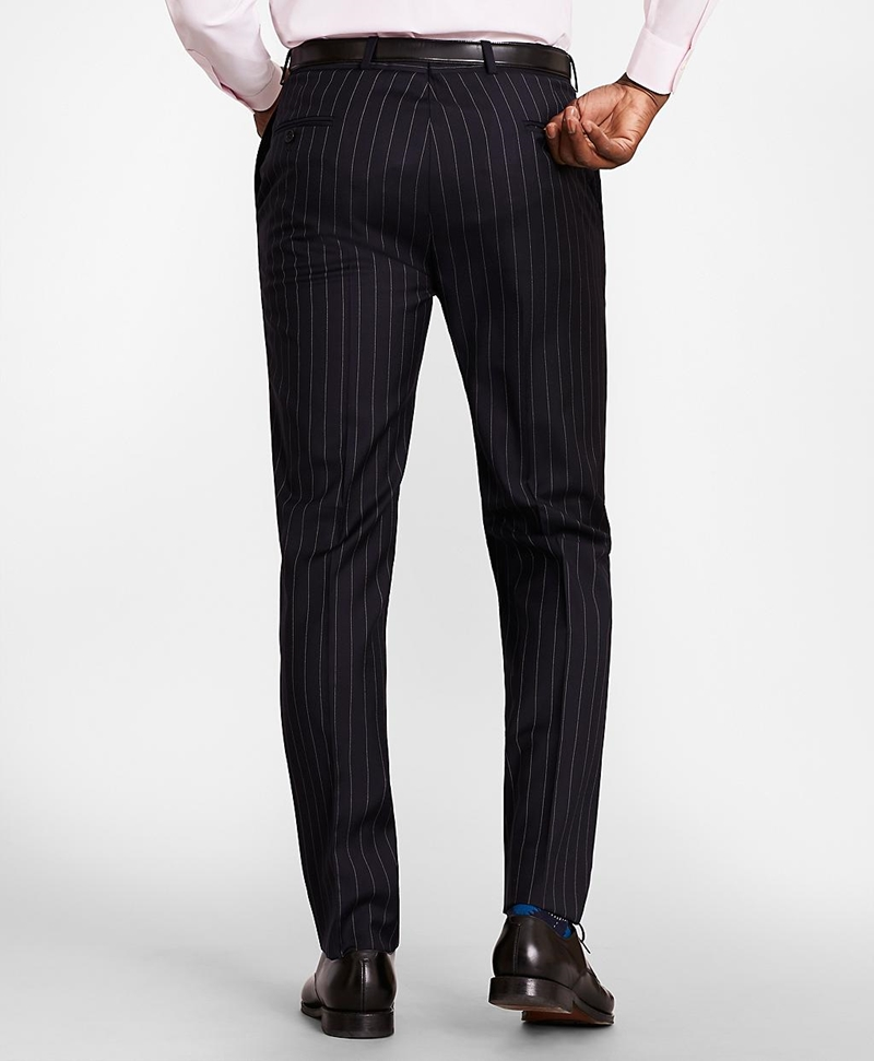 BrooksGate™ Regent-Fit Bead-Stripe Wool Twill Suit Pants 썸네일 이미지 3