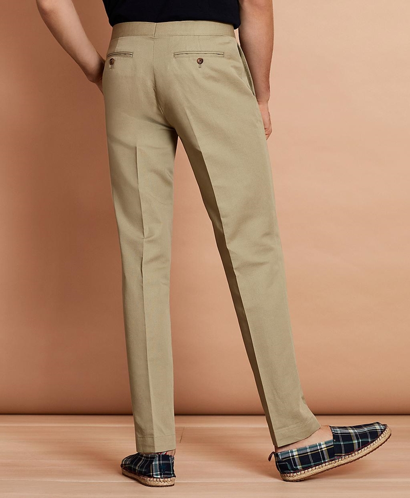 Linen-Blend Twill Trousers 썸네일 이미지 3