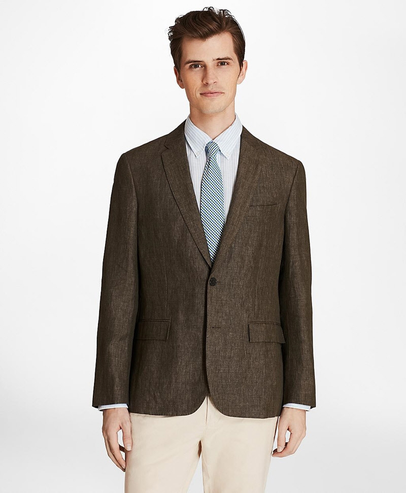 Two-Button Linen Sport Coat 썸네일 이미지 3
